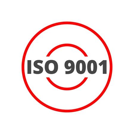 ISO 9001 certified sign icon Ilustração