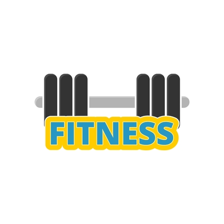Gym dumbbell flat design, Fitness icon