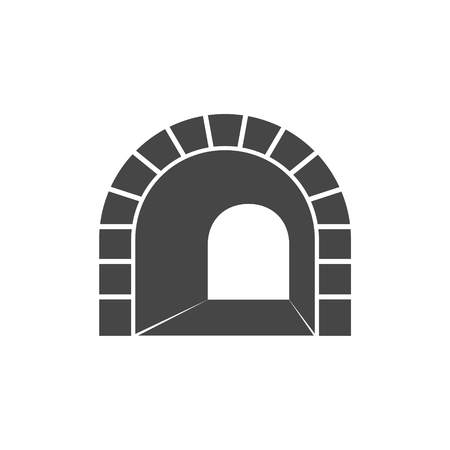 Road with tunnel icon