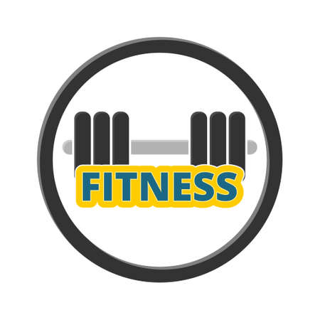 Gym dumbbell flat design, fitness icon Vectores