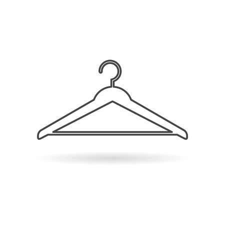 Hanger sign icon, cloakroom symbol