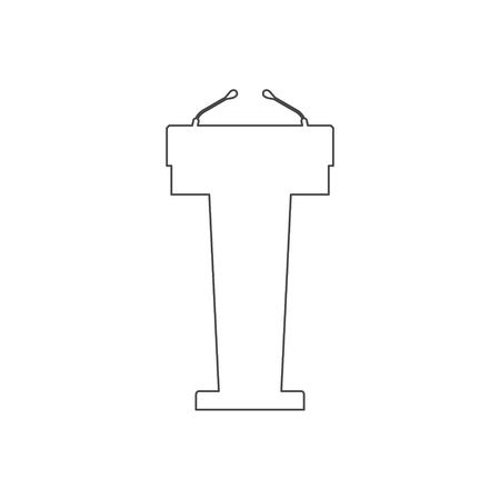 Podium Illustration, Podium vector icon