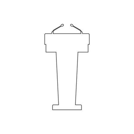 Podium Illustration, Podium vector icon