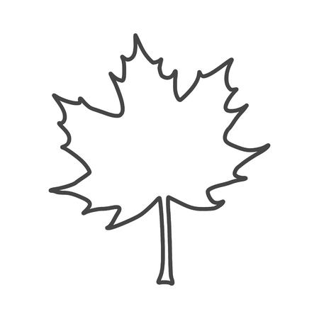 Vector Maple Leaf Icon Illustration