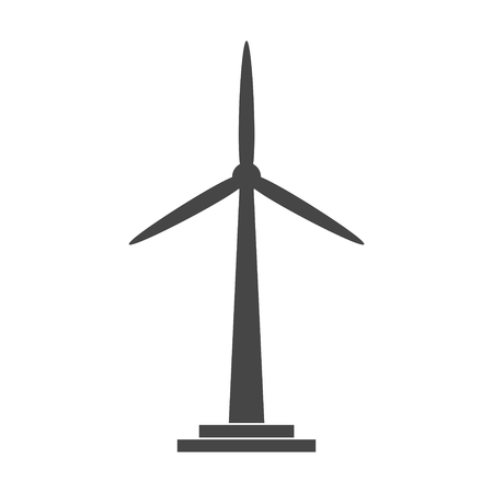 Wind turbine icon, eco concept
