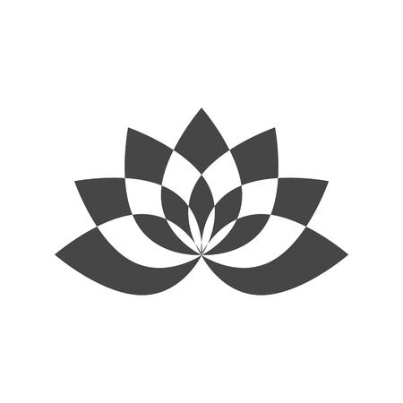 Simple lotus plant, Lotus silhouette icon Çizim