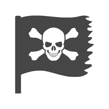 Pirate skull icon, Flag icon