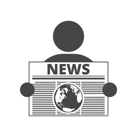 Lire l'icône de vecteur de journal