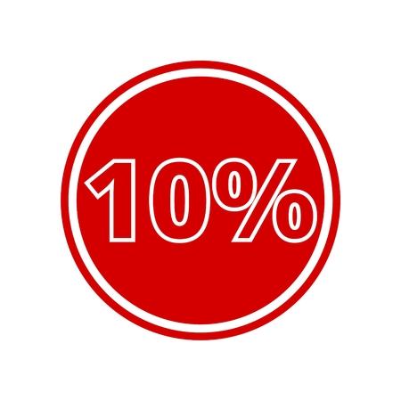 Design coupon, icona di vendita 10% Vettoriali