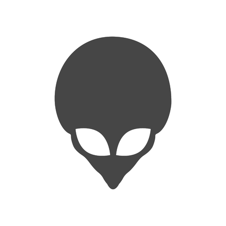 Alien head icon, Extraterrestrial alien face