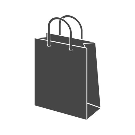 Bag store. Single flat icon