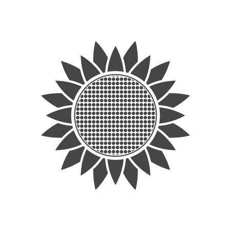 Sunflower symbol icon  イラスト・ベクター素材