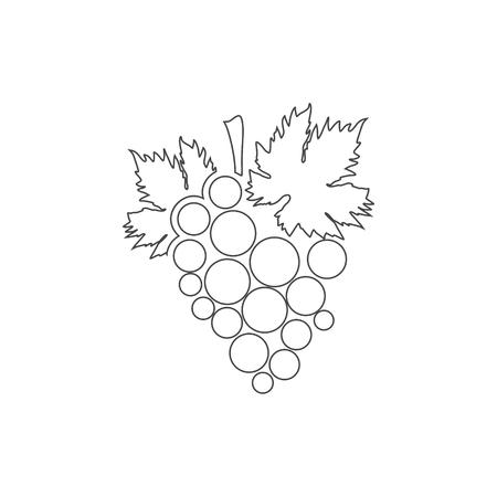 Grapes Icon, Grape logo Logó