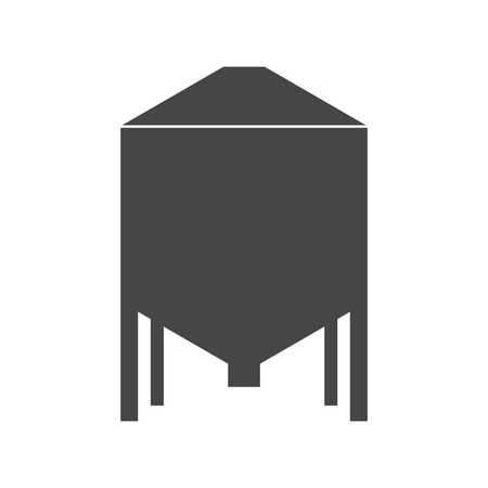 Silos storage icon Vettoriali