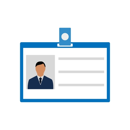 Personal id card icon, Car driver license