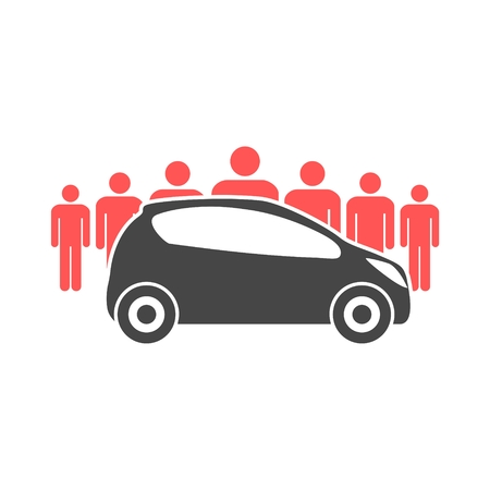 Car Sharing icon, Car sharing Symbol 向量圖像