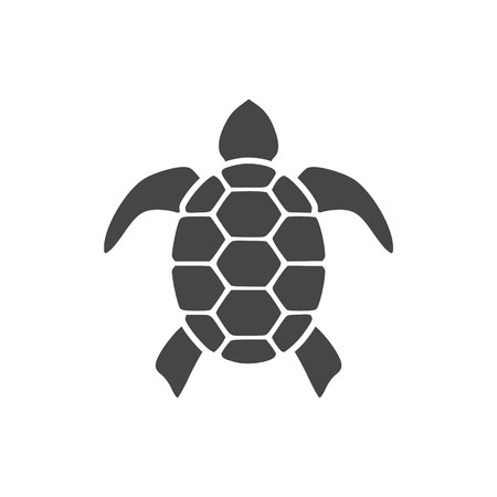 Tortuga Icono Plano Diseño Gráfico - Ilustración Ilustración de vector