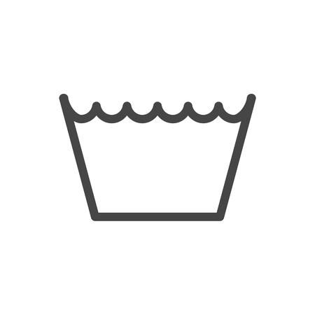 Wäschesymbole, Waschsymbol, Maschinenwaschbar-Symbol Vektorgrafik