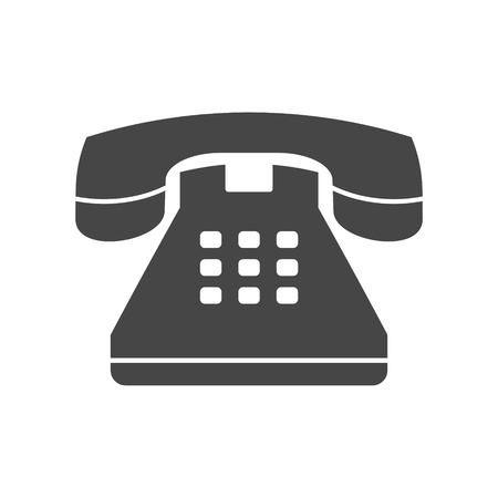 Old phone icon, Phone vector icon, Old vintage telephone symbol