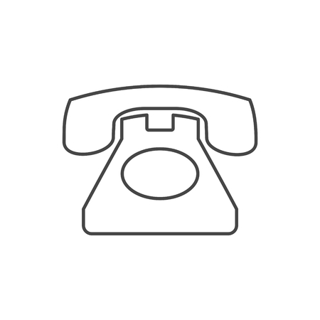 Old phone icon, Phone vector icon, Old vintage telephone symbol 矢量图像