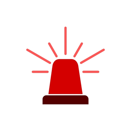 Siren icon for web and mobile, Alarm siren vector icon