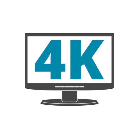 4K tv icon, Ultra HD 4K icon