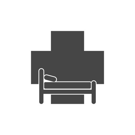 Hospital bed icon Çizim