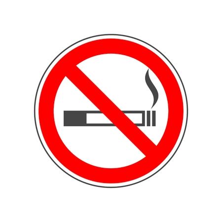 Non fumare, nessun segno di fumo Vettoriali