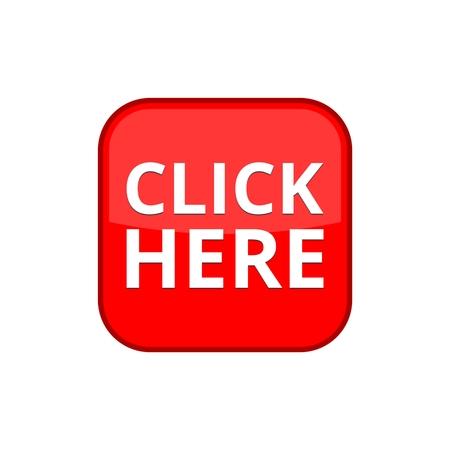Click Here button, Click here icon, Click here sign Illustration