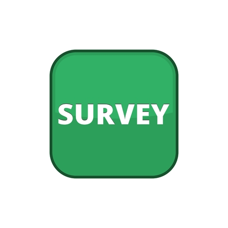 Survey sign, Survey traffic sign, Survey icon