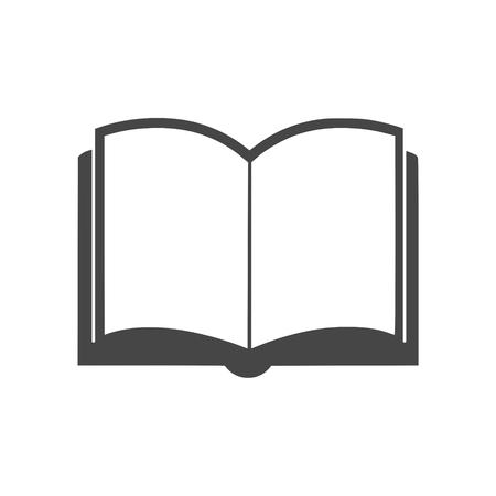Open book icon, vector book icon, vector illustration