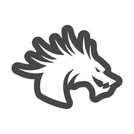 Dragon mascot, Silhouette Of Dragon