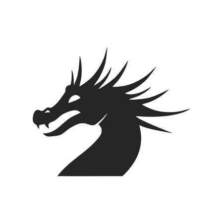 Dragon mascot, Black Silhouette Of Dragon