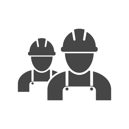 Contractor Icon, Workers icon Illustration