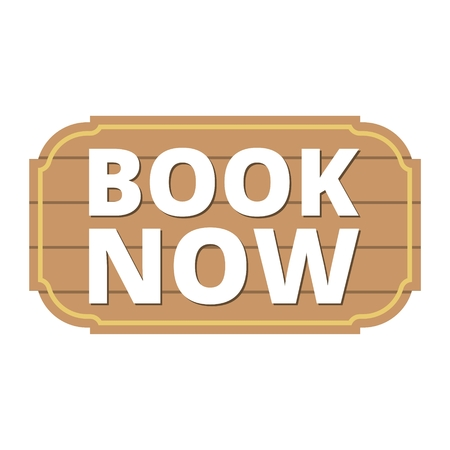 Book Now icon, Book Now sign