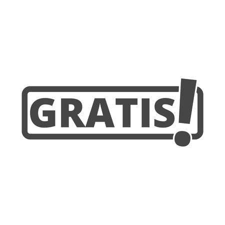 Gratis icon, Gratis sign Stock Illustratie