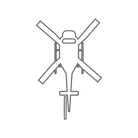 Helicopter icon, Black silhouette of helicopter Illustration