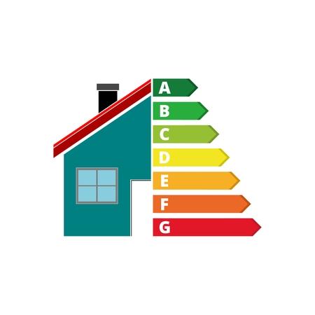 Efficacité énergétique du logement, concept de maison et d'efficacité énergétique