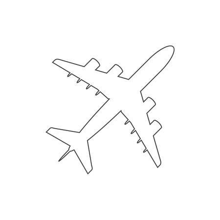 Line Plane icon, Airplane symbol Ilustração