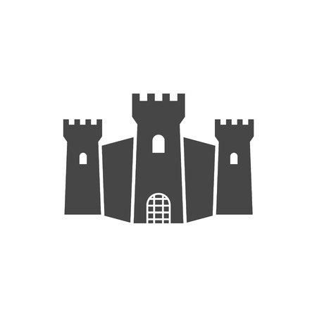 Castle Silhouette - Illustration, Castle icon