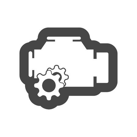 Electric motor icon Illustration