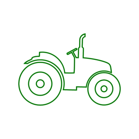 Tractor green Icon Illustration