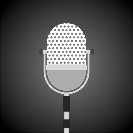 Microphone Vector icon, Microphone retro isolated icon Illustration