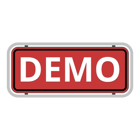 Demo red sign