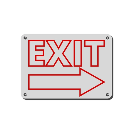 Fire exit sign, Emergency exit Stockfoto - 111752756