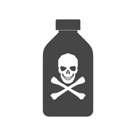 Old drug bottle, Deadly poison in bottle