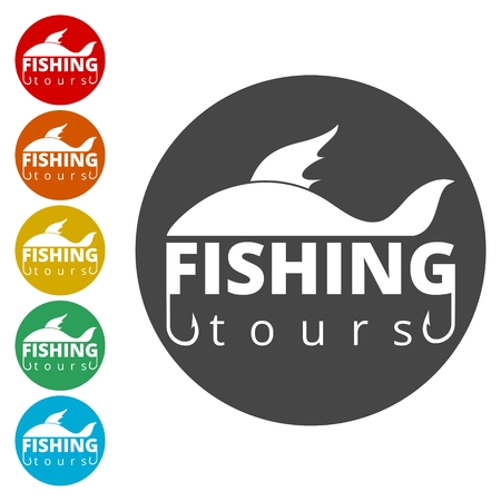 Fishing tours logo 矢量图像