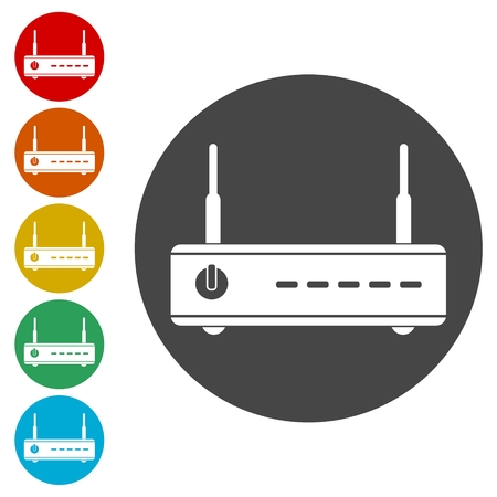 Wireless router icon, Illustration of wifi router Illustration