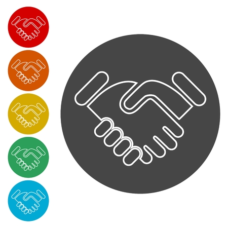 Partnership icon, Handshake