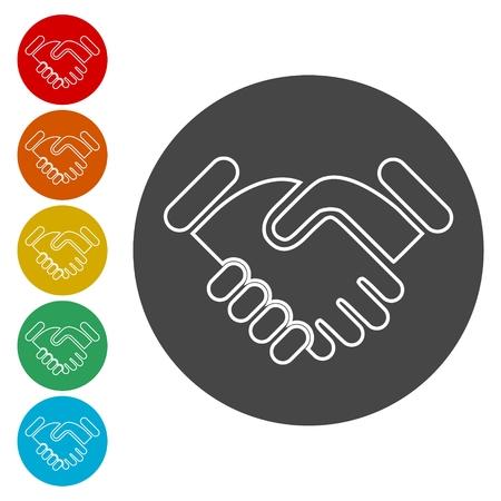 Partnership icon, Handshake